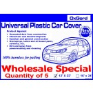 5 Plastic Car Covers - Wholesale