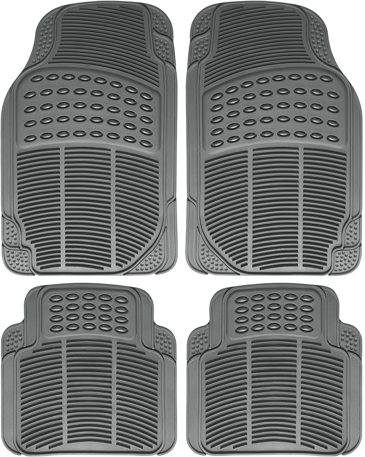 Car Floor Mats For Auto All Weather Rubber 4pc Set Semi