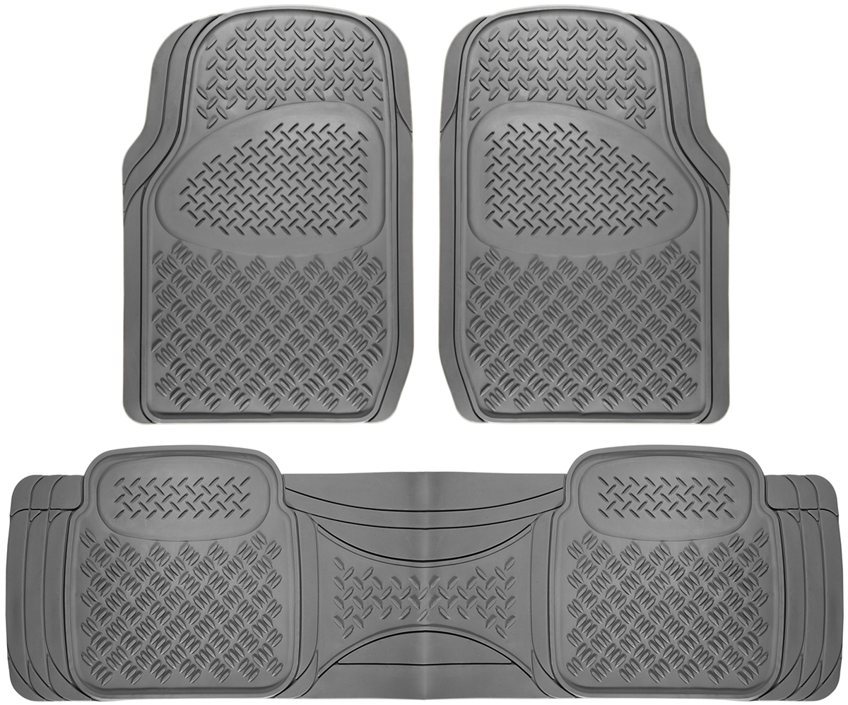 Car Floor Mats For All Weather Rubber 3pc Set Diamond Fit