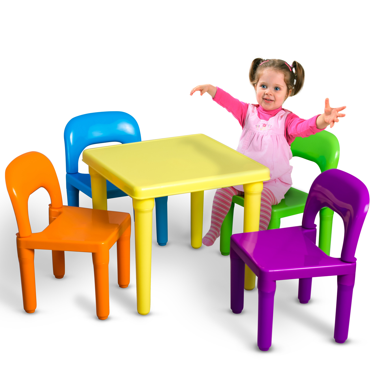 Kids Table and Chairs Play Set Toddler Child Toy Activity Furniture ...