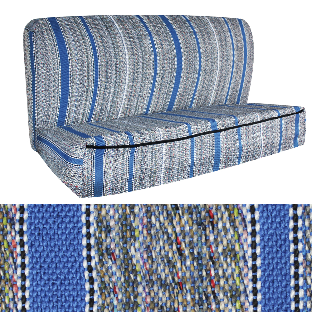Oxgord 2pc Woven Western Saddle Blanket Seat Cover Pickup Truck Bench Blue 1b Ebay